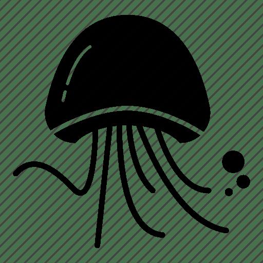 Creature fish jelly jellyfish medusa ocean sea icon