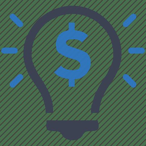 Bulb, Dollar, Idea, Light, Money, Smart, Solution Icon