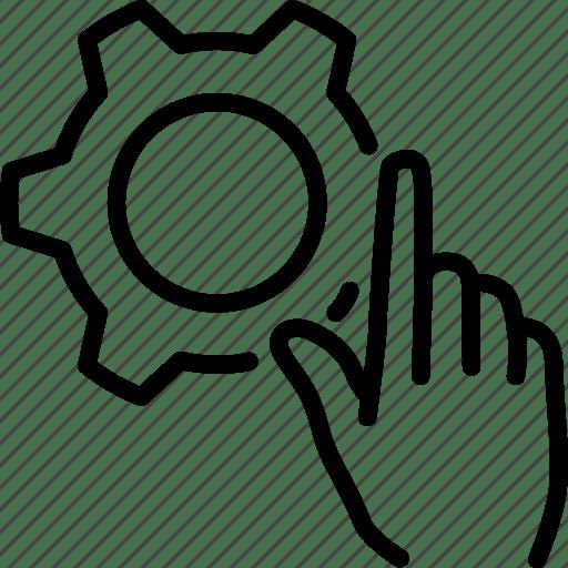 Custom settings, customize, gear, hand, manual settings