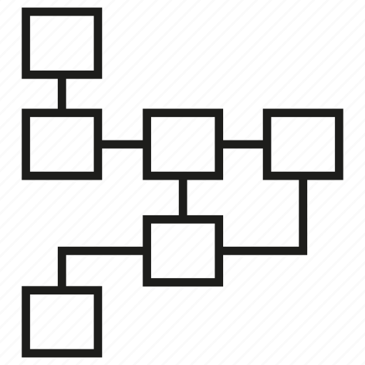Diagram, layout, logic, plan, process, strategic icon