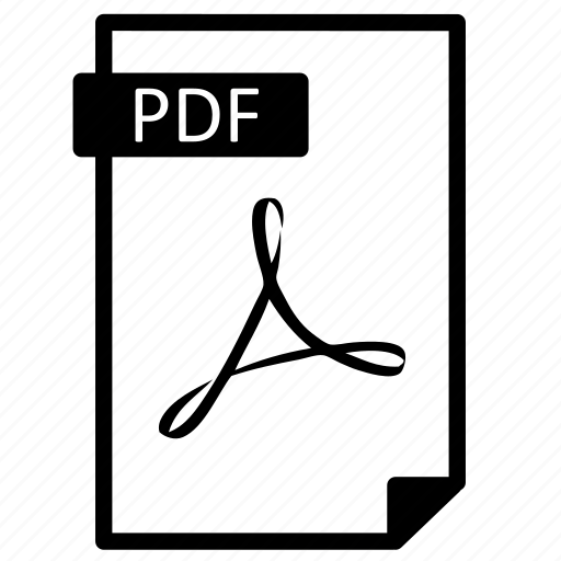 Document, extension, file, format, line, paper, pdf icon