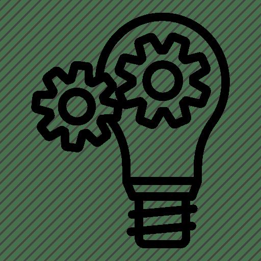 Bulb, creative, idea, innovation, invention, light, mind icon