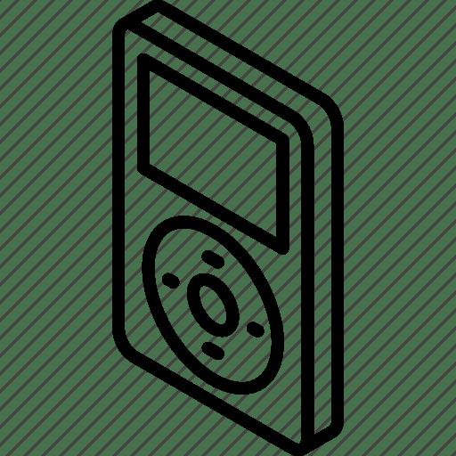 Ipod, iso, isometric, tech, technology icon