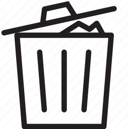 Bin, delete, garbage, recycle, recycle bin, remove, trash