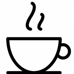 coffee icon breakfast tea morning cup warm icons food cooking editor open