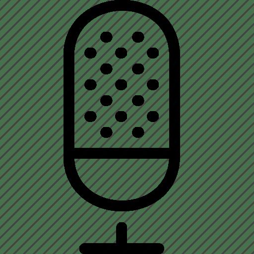 Interview, mic, microphone, record, speech, studio, voice icon