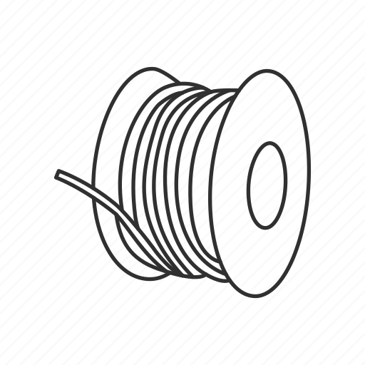 Electrical wires, electrician, spool of wire, wires icon