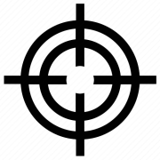 crosshair gun sight reticle
