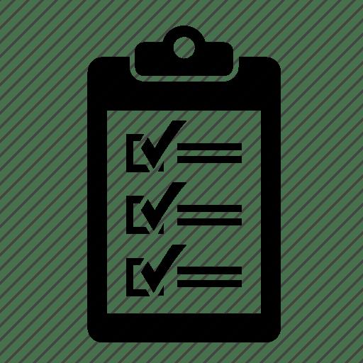 Check, checklist, form, inventory, list, paper icon