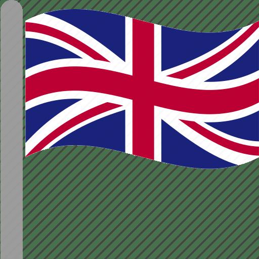 waving flag with pole