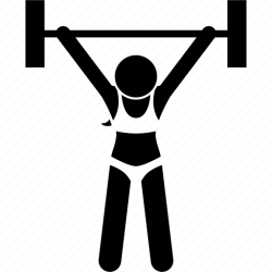 Body builder female fitness gym muscle strength woman icon Download on Iconfinder