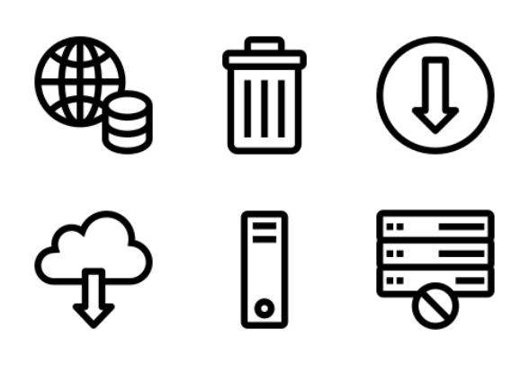 Database and Server Pixel Prefect set 1 icons by Iconic hub
