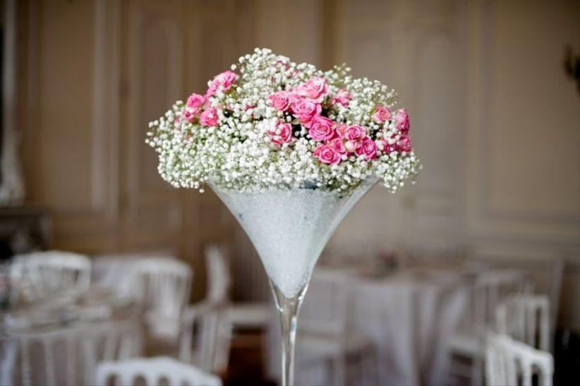 6 dcorations de centres de table avec des vases Martini