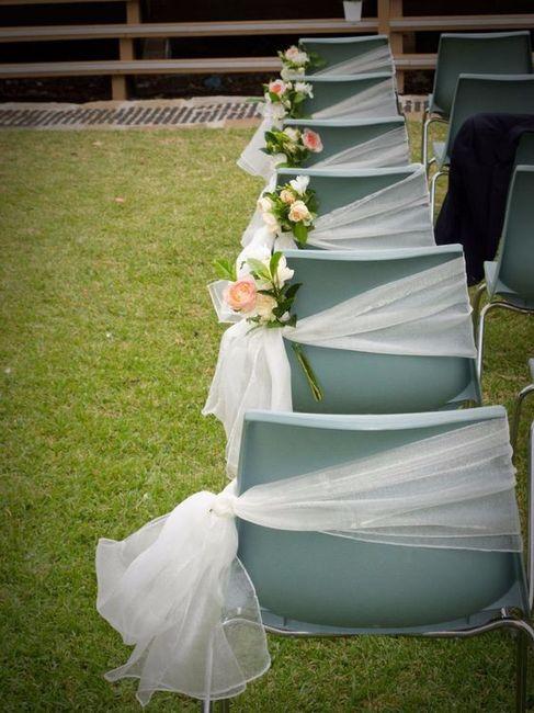 7 formas de decorar sillas de plstico para la boda