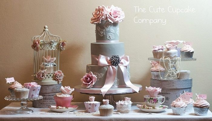 Ideas para decorar la mesa de la torta de bodas