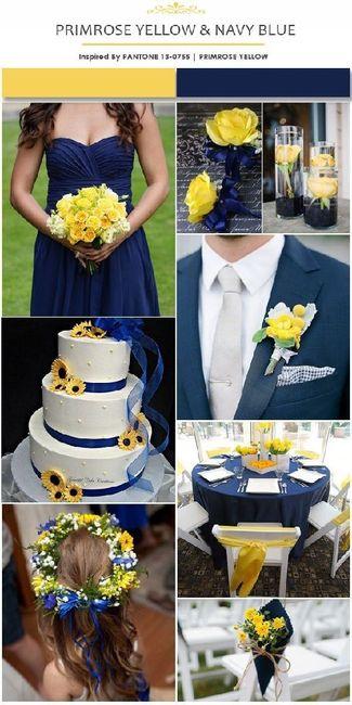 Boda en Azul y Amarillo