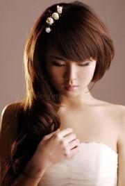peinados para novia de cabello