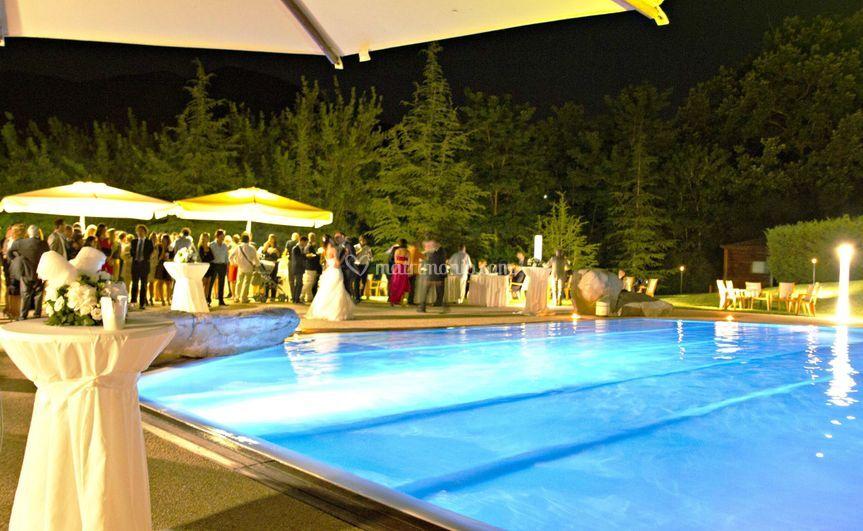 Piscina notturna di Le Grotte Hotel  Spa  Foto 31