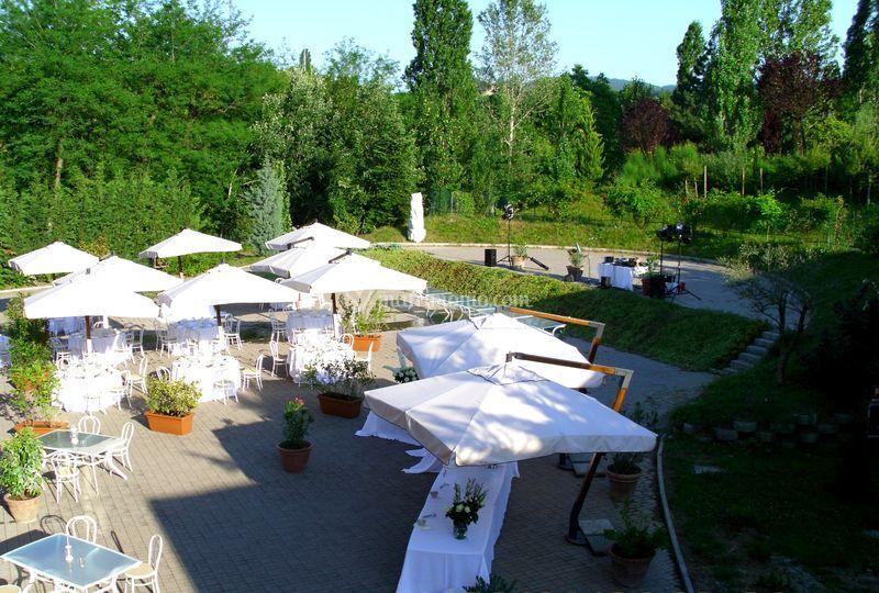 Terrazza panoramica di Ristorante Giocondo presso Ca la Ghironda ModernArtMuseum  Foto 2