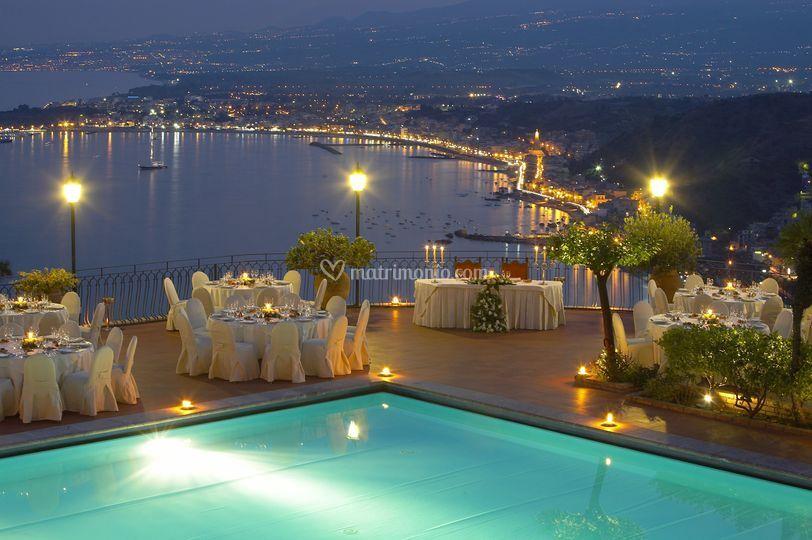 Matrimonio in piscina di Hotel Villa Diodoro Taormina  Foto