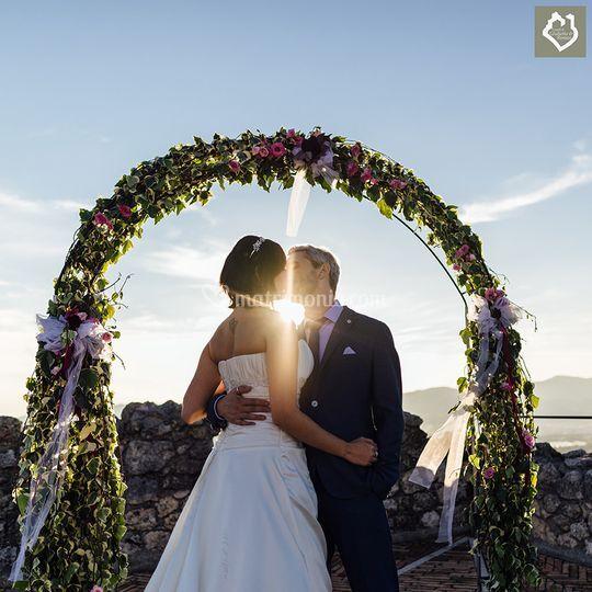 Sposi in terrazza di Ristorante Castelli Giulietta e Romeo