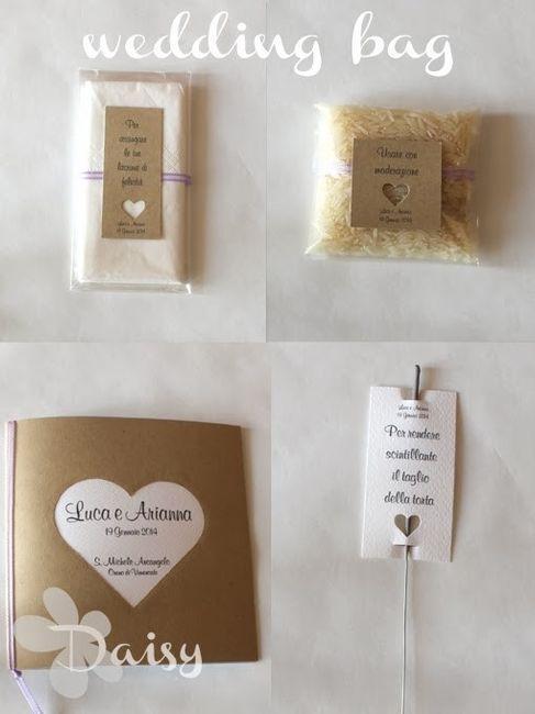Cosa mettere nella wedding bag  Organizzazione