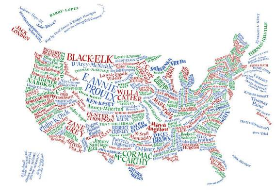 literary map of the usa shopping