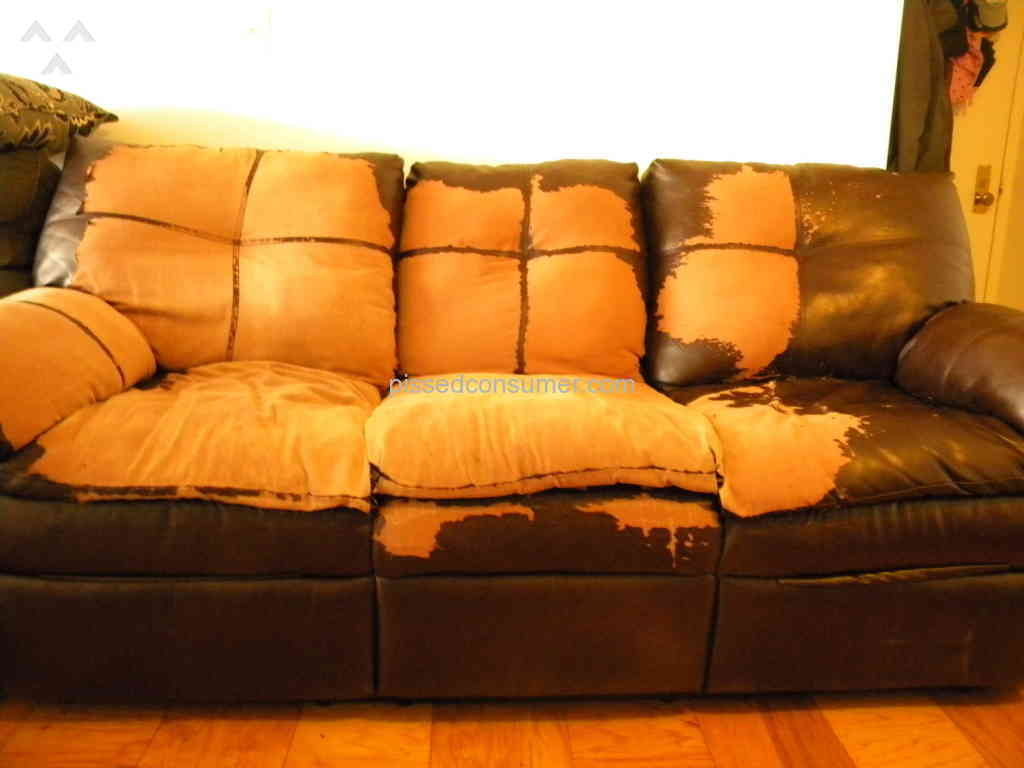 leather sofa complaints 2 sofas or sectional simmons review furniture baby reviews couch ...