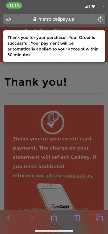 Cell Pay Metro : metro, Cellpay.us
