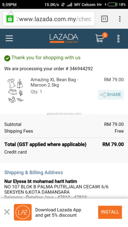 Lazada Malaysia Reviews and Complaints @ Pissed Consumer Page 416
