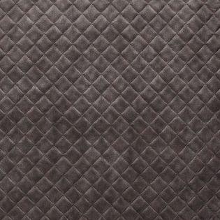 tissu simili cuir effet capitonne gris anthracite