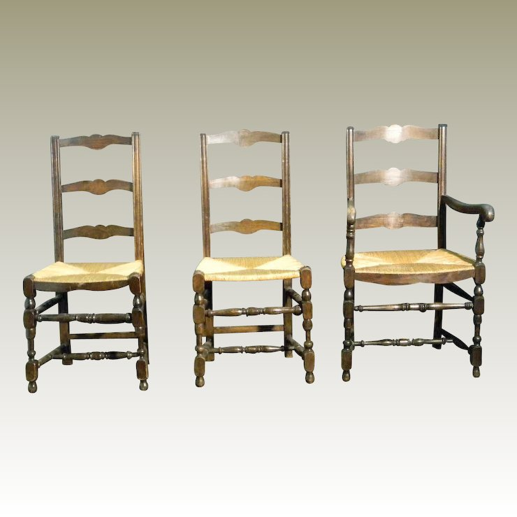 antique ladder back chairs with rush seats chair covers next 4 french dining maison