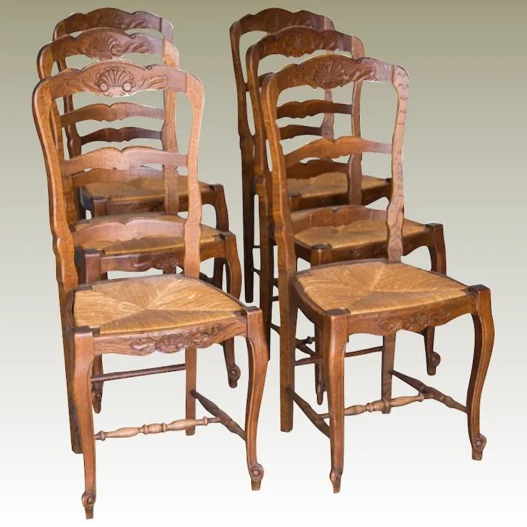 rush seat chairs chair armrest protectors 6 french antique maison decor antiques