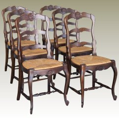 Rush Seat Chairs Swing Chair Gazebo 6 Antique French Shell Motif Cabriole Legs C 1900