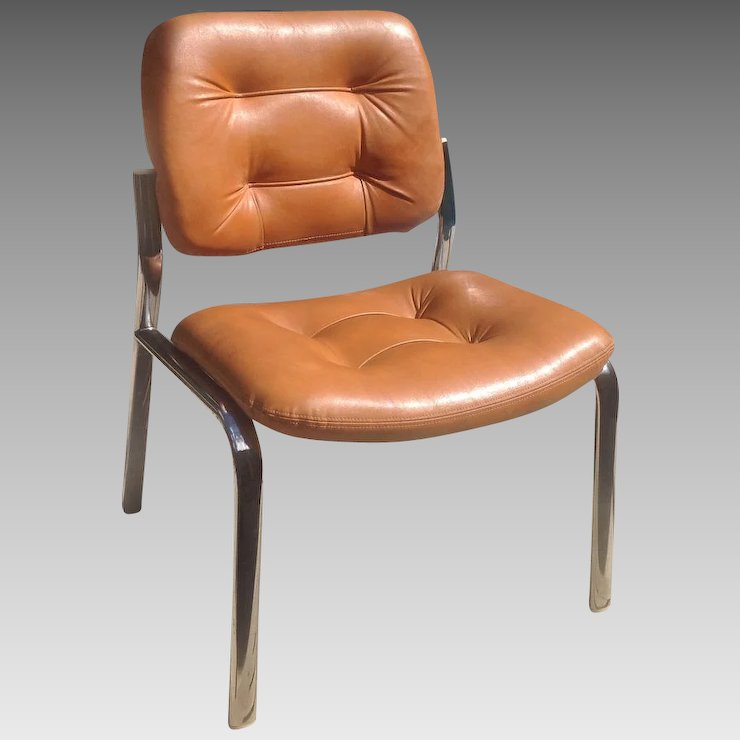 leather chrome chair velvet tufted dining chairs retro and edwin c skinner ruby lane