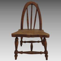 Handmade Wooden Chairs Blue High Back Chair Vintage Miniature The Weekend Shop Ruby Lane