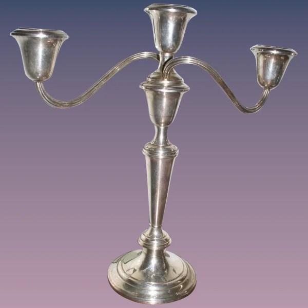 Beautiful Pair Gorham Sterling Silver Candelabra Puritan