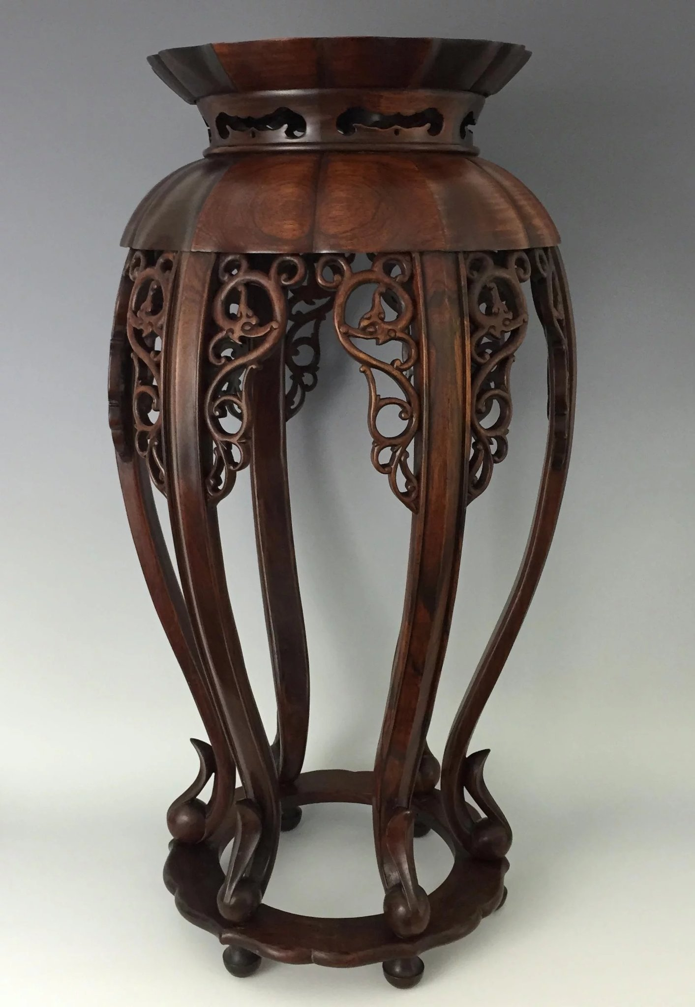 Chinese 6Legged Rosewood Incense Stand  Park Avenue