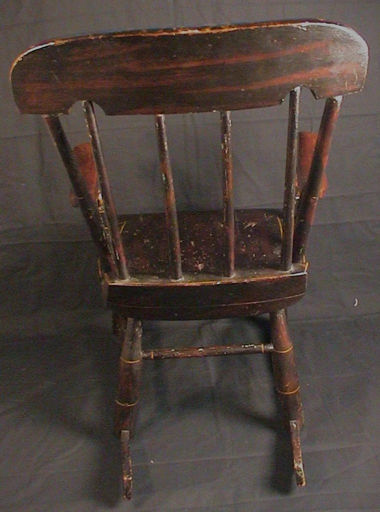 antique child rocking chair bedroom john lewis child's roses & stenciled 19th c. boston rocker : ago | ruby lane