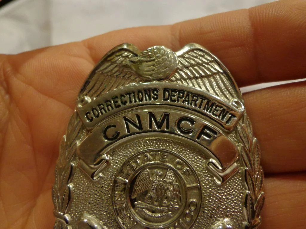 Vintage State Of New Mexico Prison Guard Badge Correctional Officer Three Daughters Antiques