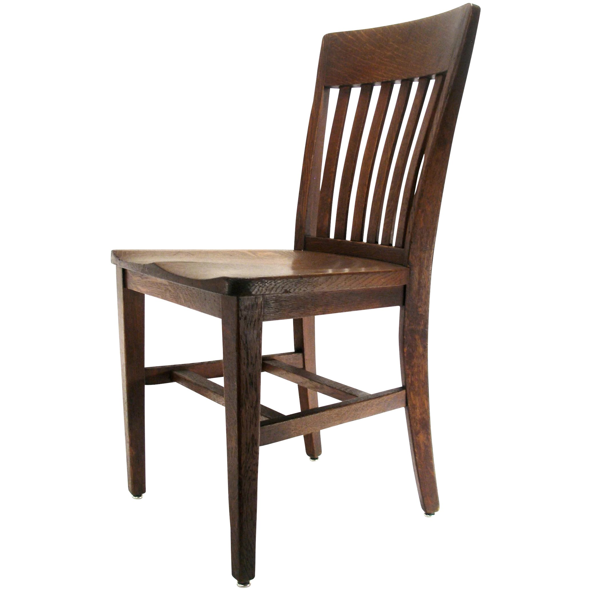 antique wood chair hanging canada indoor mission arts crafts b l marble co solid oak click to expand