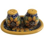 Sunflower Salt And Pepper Shakers Juarez Mexico Lead Free Pottery S P Gumgumfuninthesun Ruby Lane
