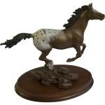 Bronze Horse Sculpture Franklin Mint Appaloosa Thunder Of The Gumgumfuninthesun Ruby Lane