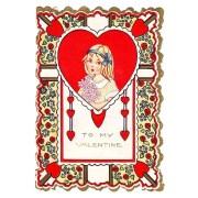 vintage valentine - 'pretty hair