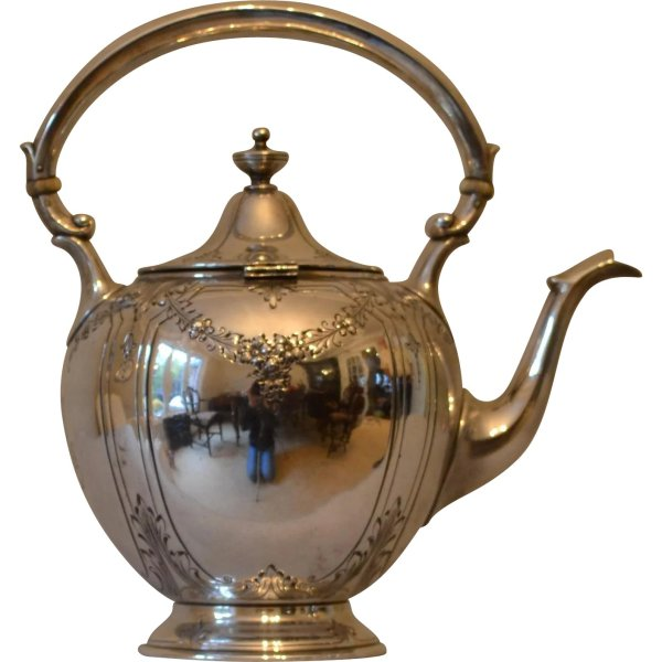 Gorham Sterling Silver Teapot In Puritan Pattern
