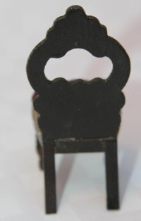 19th Century Doll House Upholstered Balloon Back Chair ...