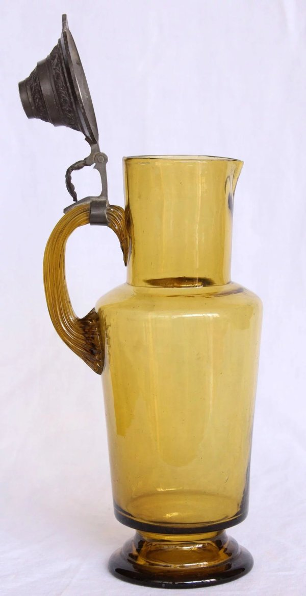 19th Century Belle Epoque Large Pitcher - Glass With