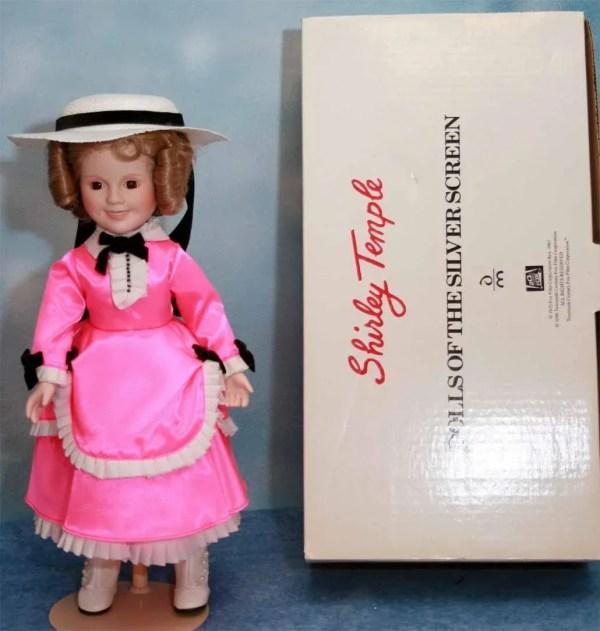"""Shirley Temple Doll Porcelain 14"""" Danbury Mint Little"""