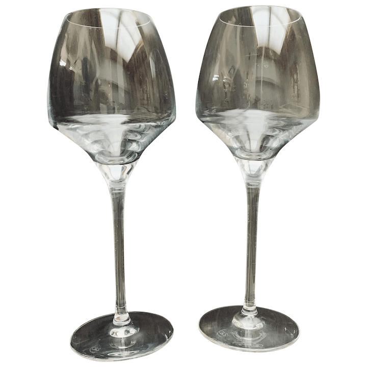 chef and sommelier open up pattern wine glass set