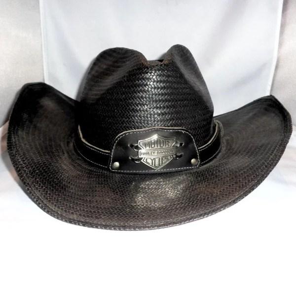 Larry Hagman' Harley Davidson Cowboy Hat Signed